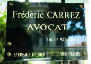 Cabinet d'avocat CARREZ à Nice, antibes, et cuneo